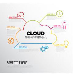Cloud storage - infographic report template vector