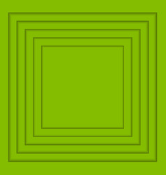 concentric greenery squares background vector image