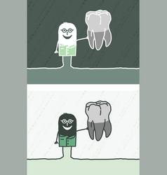 Dentist colored cartoon vector