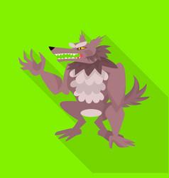Design wolf and werewolf symbol vector