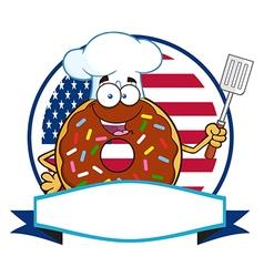 Donut Chef Cartoon vector image