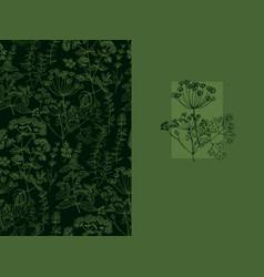elegant classic herbal seamless pattern vector image