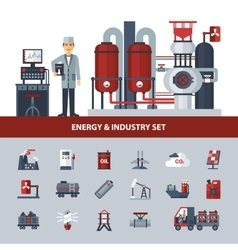 Energy And Industry Set vector