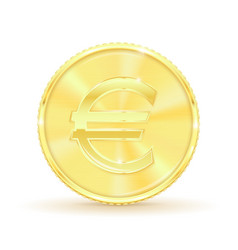 euro golden coin vector image