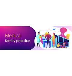 family doctor concept banner header vector image