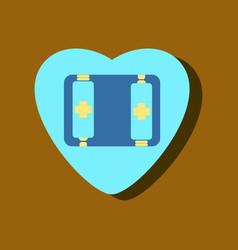 Flat icon design collection heart icon vector