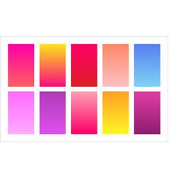 Floral color palette gradient background set vector