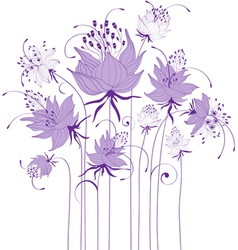 Floral design stylized flowers vector image