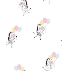 greeting pattern with zebra vector image