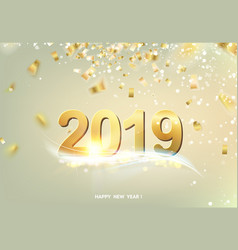 happy new year card over gray vector image