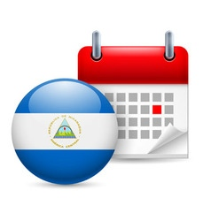 Icon of national day in nicaragua vector image
