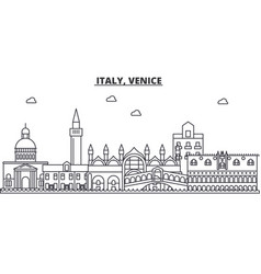 italy venice architecture line skyline vector image