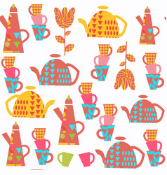 kettle abstract seamless pattern it is located in vector image