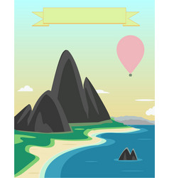 Landscape depicting the mountains the sea and the vector