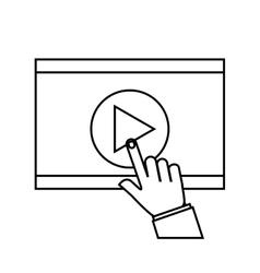 Media player flat icon vector