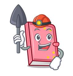 Miner diary mascot cartoon style vector