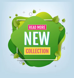 new arrival collection speech bubble poster vector image