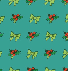 Nice seamless pattern with snowflakes and christma vector