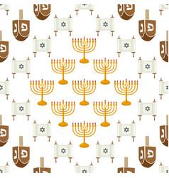 On theme big colored pattern menorah vector