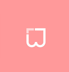 Pink white alphabet letter w for logo icon design vector