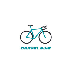 professional gravel bike ride logotype turquoise vector image