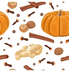 Pumpkin spice seamless pattern set vector