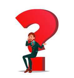 question mark businessman task hr concept vector image