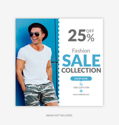 sale collection instagram post square banner vector image