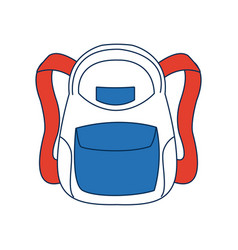 School backpack bag accessory fashion vector