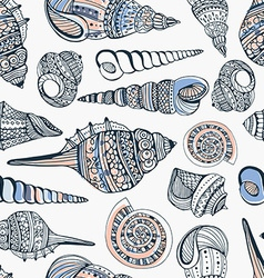 Seashell Seamless Pattern vector