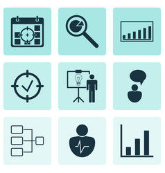 Set 9 administration icons includes company vector