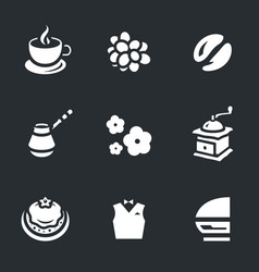 set coffee icons vector image