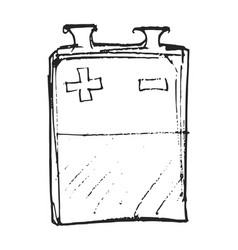 Sketch square battery vector