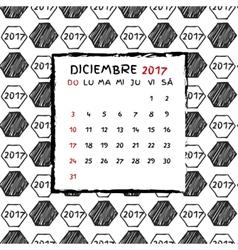 Spanish Calendar 2017 vector