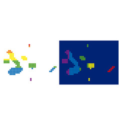Spectrum pixel dotted galapagos islands map vector