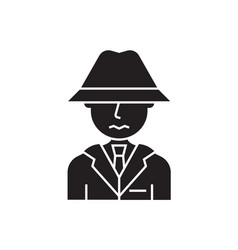 suspicious person black concept icon vector image