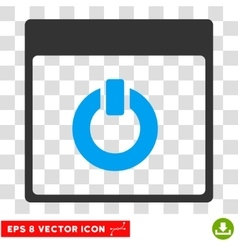 Switch On Calendar Page Eps Icon vector image