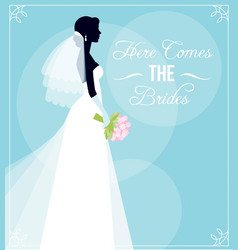 Template flyer for bridal shower or for a vector