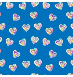 Valentine blue diamond seamless pattern vector