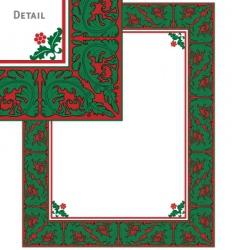 vintage christmas frame vector image