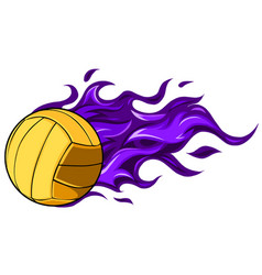 volleyball icon isolated on white background vector image