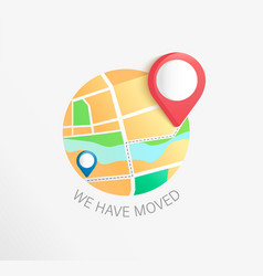 we have moved concept business relocation vector image