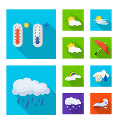 Weather and climate symbol vector