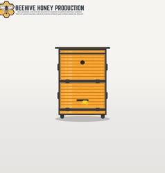 Beehive line vector image vector image