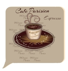 Cup Of Coffee Espresso Cartoon style vector image