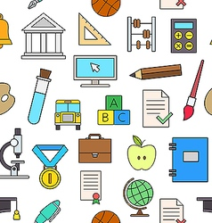 Education elements colorful pattern icons vector image vector image