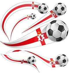 north ireland flag with soccer ball vector image vector image