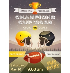 American Football Sport Poster vector image