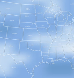 Creative map of the United States of America vector image