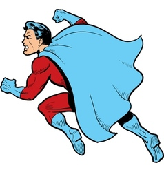 Fighting Superhero vector image vector image